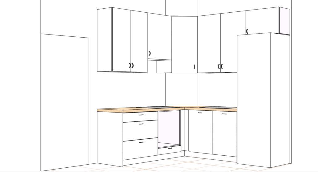 Кухня угловая 2300 (низ+верх 950)